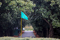 A Masters Flag pin at the Augusta National Womans Amateur 2019, Champions Retreat, Augusta, Georgia, USA. 05/04/2019.<br /> Picture Fran Caffrey / Golffile.ie<br /> <br /> All photo usage must carry mandatory copyright credit (© Golffile   Fran Caffrey)