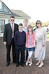 Sam Smith with Frank, Adam, Lucy and Clodagh at Donacarney NS Confirmation in The Star of the Sea Church...Photo NEWSFILE/Jenny Matthews.(Photo credit should read Jenny Matthews/NEWSFILE)....This Picture has been sent you under the condtions enclosed by:.Newsfile Ltd..The Studio,.Millmount Abbey,.Drogheda,.Co Meath..Ireland..Tel: +353(0)41-9871240.Fax: +353(0)41-9871260.GSM: +353(0)86-2500958.email: pictures@newsfile.ie.www.newsfile.ie.FTP: 193.120.102.198.