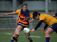 Action from the 2018 Hurricanes Secondary Schools Under-15 Boys' Rugby Tournament match between Francis Douglas Memorial College and John mcGlashan College at Maidstone Park in Wellington, New Zealand on Wednesday, 5 September 2018. Photo: Dave Lintott / lintottphoto.co.nz