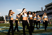 August 30, 2008. Chapel Hill, NC..  In the opening game of the season, the UNC Tarheels beat McNeese State 35- 27 in a game delayed by foul weather.. The UNC dancers.