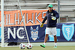 20 September 2014: Cosmos goalkeeper coach Guillermo Valencia. The Carolina RailHawks played the New York Cosmos at WakeMed Stadium in Cary, North Carolina in a 2014 North American Soccer League Fall Season match. Carolina won the game 5-4.