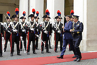 Roma, 14 Ottobre 2014<br /> Matteo Renzi incontra il Primo Ministro della Repubblica popolare della Cina Li Keqiang.<br /> Nella foto Matteo Renzi in attesa del premier cinese