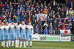Rangers fans during the minutes silence