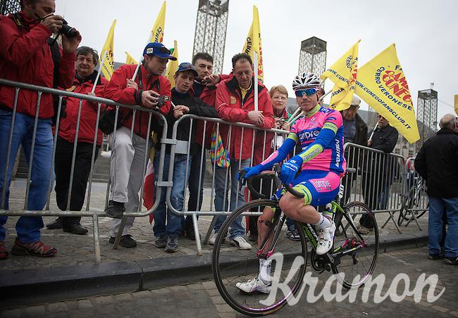 Liège-Bastogne-Liège 2013..Damiano Cunego (ITA) and fans.