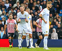Leeds United's Pontus Jansson tries to gee his side on after going 1-0 down<br /> <br /> Photographer Alex Dodd/CameraSport<br /> <br /> The EFL Sky Bet Championship - Leeds United v Brentford - Saturday 6th October 2018 - Elland Road - Leeds<br /> <br /> World Copyright &copy; 2018 CameraSport. All rights reserved. 43 Linden Ave. Countesthorpe. Leicester. England. LE8 5PG - Tel: +44 (0) 116 277 4147 - admin@camerasport.com - www.camerasport.com