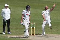Joe Leach in bowling action for Worcestershire during Worcestershire CCC vs Essex CCC, Specsavers County Championship Division 1 Cricket at New Road on 13th May 2018