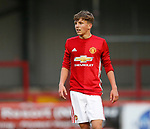 Dion McGhee of Manchester Utd during the U18 Premier League Merit Group A match at The J Davidson Stadium, Altrincham. Date 12th May 2017. Picture credit should read: Simon Bellis/Sportimage