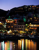 Griechenland, Kreta, Agia Galini: Hafen bei Nacht | Greece, Crete, Agia Galini: harbour at night