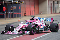 Ocon, Formula 1 pilot of the Force India Team, shooting during the second day of the test days of Formula 1, held at the Catalunya circuit (Montmelo) Catalonia February 27th  of 2018