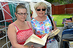 Mary Nabb and Mary Leonard buying books at the DAWN sale. www.newsfile.ie