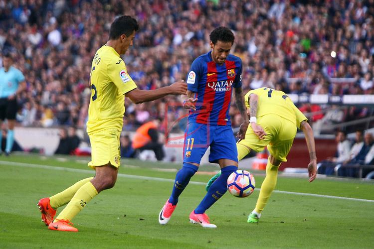 League Santander 2016/2017. Game: 36.<br /> FC Barcelona vs Villarreal CF: 4-1.<br /> Rodrigo, Neymar Jr &amp; Samu Castillejo.