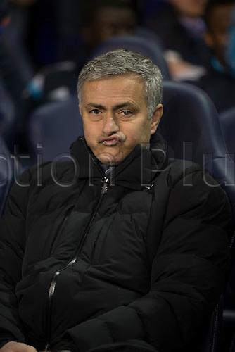 01.01.2015.  London, England. Barclays Premier League. Tottenham versus Chelsea. José Mourinho, the Chelsea manager pulls face before the game.