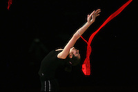 Anna Bessonova of Ukraine trains with ribbon before 2007 Thiais Grand Prix near Paris, France on March 22, 2007.