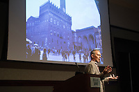 Victor Coonin, a leading authority on renowned artist Michelangelo, spoke at MSU on Wednesday [Sept. 21]. His visit is part of the Institute for the Humanities 2016-17 Distinguished Lecture Series. <br />