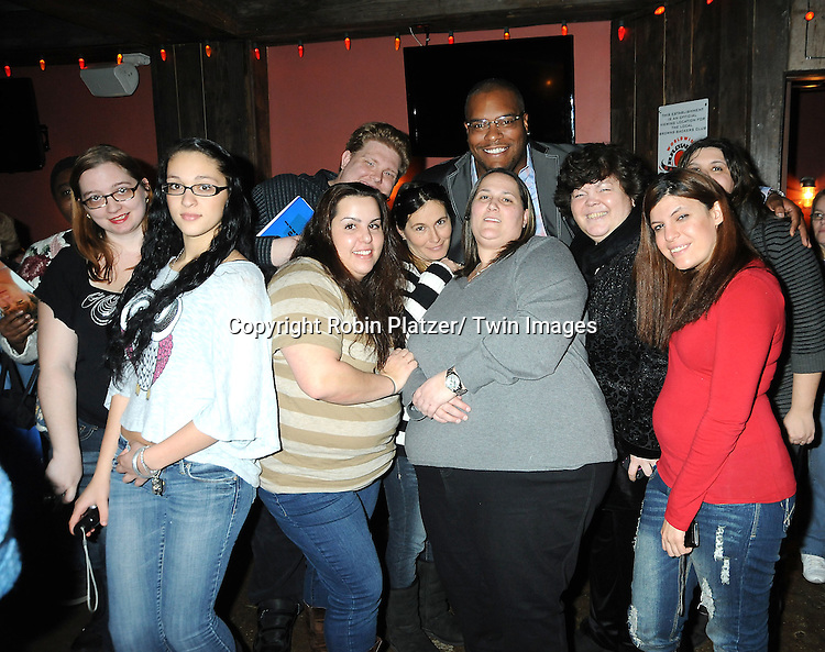 Sean Ringgold and fans attend The One Life To Live Benefit for The Amber Roach Memorial Garden on January 7, 2012 at Brother .Jimmy's BBQ Union Square Restaurant in New York City.