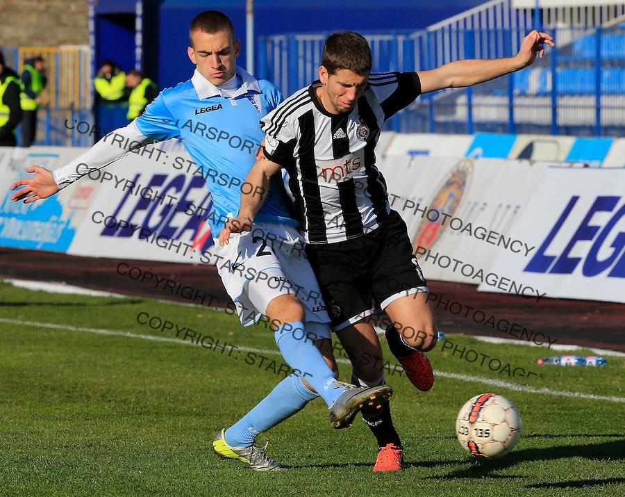 Fudbal Jelen Super League season 2015-2016<br /> Spartak v Partizan<br /> Darko Brasanac and Marko Jondic (L)<br /> Subotica, 29.11.2015.<br /> foto: Srdjan Stevanovic/Starsportphoto&copy;