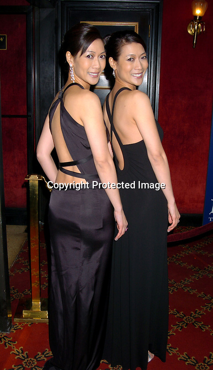 "Ada Tai and Arlene Tai..at the World Premiere of ""Big Fish"" on December 4, 2003 at the Ziegfeld Theatre in New York City.                               Photo by Robin Platzer, Twin Images"