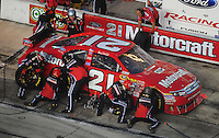 Nov. 8, 2009; Fort Worth, TX, USA; NASCAR Sprint Cup Series driver Bill Elliott pits during the Dickies 500 at the Texas Motor Speedway. Mandatory Credit: Mark J. Rebilas-