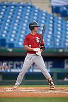 Braden Calise (6) of John Carroll Catholic High School in Fort Pierce, FL during the Perfect Game National Showcase at Hoover Metropolitan Stadium on June 18, 2020 in Hoover, Alabama. (Mike Janes/Four Seam Images)