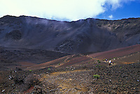 Horseback riding through Haleakala Crater, Upcountry Maui