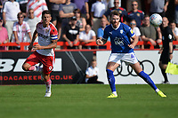 Alex Revell of Stevenage and Ritchie Sutton of Tranmere Rovers during Stevenage vs Tranmere Rovers, Sky Bet EFL League 2 Football at the Lamex Stadium on 4th August 2018
