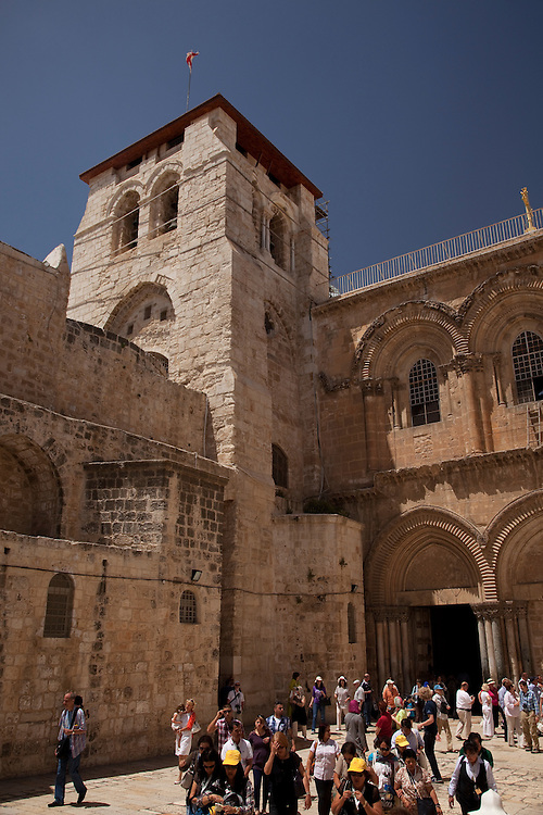 Church is in heart of the Christian Quarter of the Old City, Jerusalem