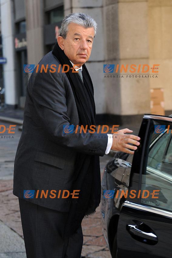 Tarak Ben Ammar<br /> Milano 06/02/2014 Sede Telecom Piazza Affari <br /> Consiglio d'amministrazione da Telecom <br /> foto Andrea Ninni/Image/Insidefoto