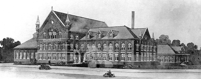 Engineering building that will later become McCain Engineering Building.<br />
