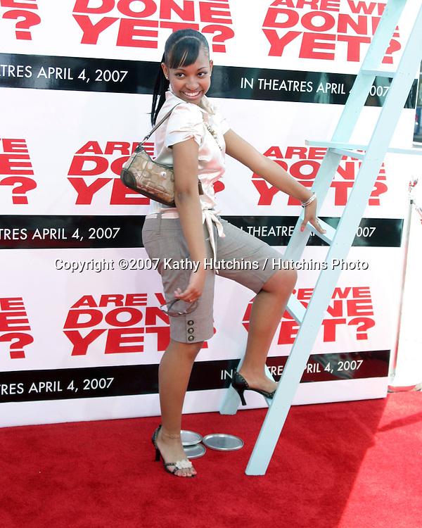 "Aleisha Allen.""Are We Done Yet?"" Premiere.Mann's Village Theater.Westwood, CA.April 1, 2007.©2007 Kathy Hutchins / Hutchins Photo...."