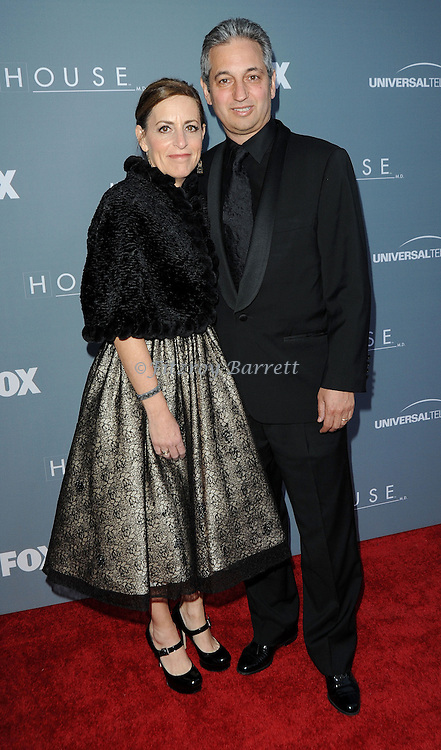 David Shore and date attending the House Series  Finale Wrap Party, held at Cicada's in Los Angeles, CA. April 20, 2012