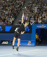 Andy Murray..Tennis - Australian Open - Grand Slam -  Melbourne Park  2013 -  Melbourne - Australia - Friday 25th January  2013. .© AMN Images, 30, Cleveland Street, London, W1T 4JD.Tel - +44 20 7907 6387.mfrey@advantagemedianet.com.www.amnimages.photoshelter.com.www.advantagemedianet.com.www.tennishead.net