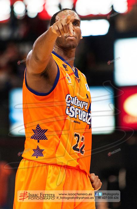 "Endesa Basketball League - ACB.<br /> Valencia Basket vs Fiatc Juventut.<br /> Fuente de San Luis ""La Fonteta"" Pavillion.<br /> December 16, 2012. Thomas Kelati"