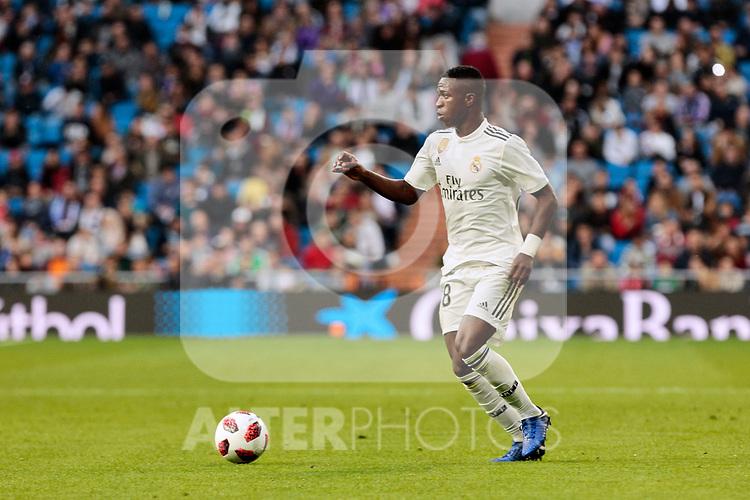 Real Madrid's Vinicius Jr. during Copa del Rey match between Real Madrid and UD Melilla at Santiago Bernabeu Stadium in Madrid, Spain. December 06, 2018. (ALTERPHOTOS/A. Perez Meca)