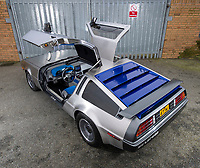 Back to the Future...finally! DeLorean converted into a stunning electric eco supercar