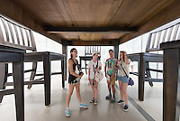 Incoming Occidental College students participate in Oxy Engage with the group LA Underground and visit The Broad contemporary art museum in downtown Los Angeles on Aug. 23, 2016.<br />