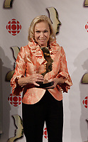 Montreal (Qc) CANADA, September 9, 2007 -<br /> Monique Mercure,<br /> Gala des Gemeaux, Palais des Congres de Montreal.<br /> <br /> photo : Pierre Roussel (c)  Images Distribution