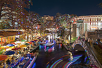 This show just how festive the San Anotnio river walk is with all the lights in the trees, the riverboats with there festive lights along with all the lights along the walk it is a wonderful place to go for the holidays.