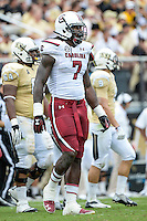 September 28, 2013 - Orlando, FL, U.S: South Carolina Gamecocks defensive end Jadeveon Clowney (7) during 1st half NCAA football game action between the South Carolina Gamecocks and the UCF Knights at Bright House Networks Stadium in Orlando, Fl
