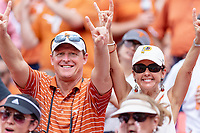 Landover, MD - September 1, 2018: Texas Longhorns fans during game between Maryland and No. 23 ranked Texas at FedEx Field in Landover, MD. The Terrapins upset the Longhorns in back to back season openers with a 34-29 win. (Photo by Phillip Peters/Media Images International)