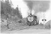 D&amp;RGW #481 coming up to Monarch Branch switchback.<br /> D&amp;RGW  Garfield, CO  Taken by Richardson, Robert W. - 8/20/1951