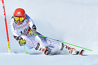 February 16, 2017: Petra VLHOVA (SVK) competing in the women's giant slalom event at the FIS Alpine World Ski Championships at St Moritz, Switzerland. Photo Sydney Low