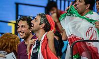 RIO DE JANEIRO, RJ, 17.06.2016 - EUA-IRÃ - Torcedores iranianos fazem a festa na arquibancada, durante a partida válida pela Liga Mundial de Vôlei 2016, na Arena Carioca 1, zona oeste da cidade, na tarde desta sexta-feira, 17. (Foto: Jayson Braga / Brazill Photo Press)