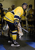 Joe Cucci (Merrimack - 14) - The University of Notre Dame Fighting Irish defeated the Merrimack College Warriors 4-3 in overtime in their NCAA Northeast Regional Semi-Final on Saturday, March 26, 2011, at Verizon Wireless Arena in Manchester, New Hampshire.