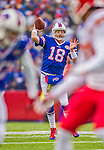 9 November 2014: Buffalo Bills quarterback Kyle Orton makes a forward pass in the first quarter against the Kansas City Chiefs at Ralph Wilson Stadium in Orchard Park, NY. The Chiefs rallied with two fourth quarter touchdowns to defeat the Bills 17-13. Mandatory Credit: Ed Wolfstein Photo *** RAW (NEF) Image File Available ***