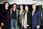 "LOS ANGELES - JAN 9: Sherry Lansing, Ben Mankiewicz, David Rambo, Alba Francesca, Keith McNutt at The Actors Fund's ""In The Spotlight"" Living Room Salon Series launch with special guest Sherry Lansing at a private estate on January 9, 2018 in Beverly Hills, CA"
