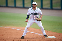Dartmouth Big Green first baseman Joe Purritano (3) during a game against the South Florida Bulls on March 27, 2016 at USF Baseball Stadium in Tampa, Florida.  South Florida defeated Dartmouth 4-0.  (Mike Janes/Four Seam Images)