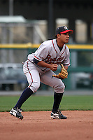 Richmond Braves Luis Hernandez during an International League game at Dunn Tire Park on April 21, 2006 in Buffalo, New York.  (Mike Janes/Four Seam Images)