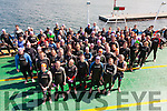 Triathletes crossing on the Valentia Ferry to Renard Point for the start of the 2015 Valentia Triathlon.