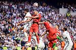 Real Madrid's Raphael Varane and Sevilla FC Steven N&rsquo;Zonzi during La Liga match between Real Madrid and Sevilla FC at Santiago Bernabeu Stadium in Madrid, May 14, 2017. Spain.<br /> (ALTERPHOTOS/BorjaB.Hojas)