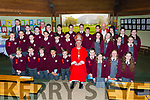 Padraig Corcoran Fossa NS sixth class at their Confirmation with Bishop Ray Browne, Fr Harrington and Fr Looney in the Prince of Peace church Fossa on Tuesday